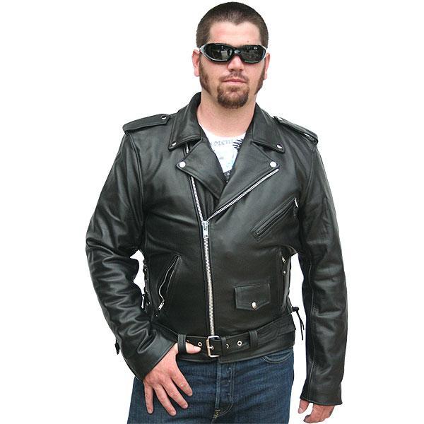 Байкерские кожаные мужские куртки