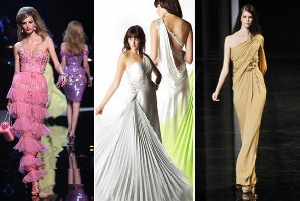 Горячий тренд- длинные вечерние платья со слегка расширенной или...